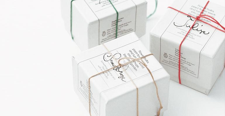 ガーデン雑貨の球根のギフトボックス